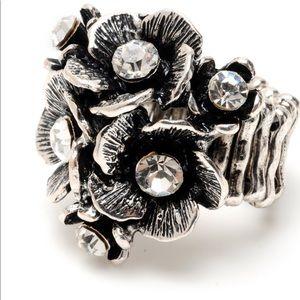 NWT Amrita Singh silver Australian crystal ring